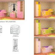 Набор детской мебели Мальвина