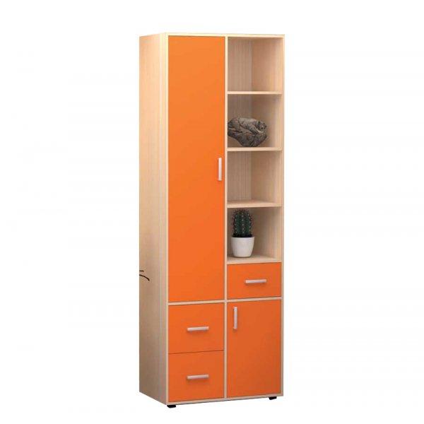 Шкаф ТОПАЗ распашной двухдверный оранж