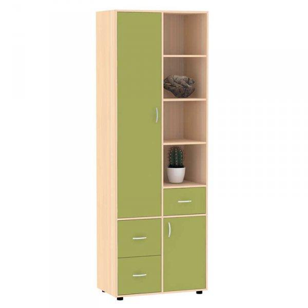 Шкаф ТОПАЗ распашной двухдверный зеленый