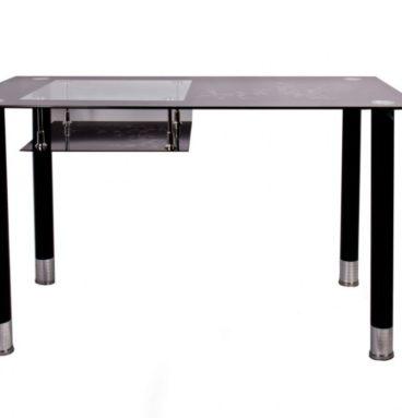 Стол обеденный со стеклом А32 черный