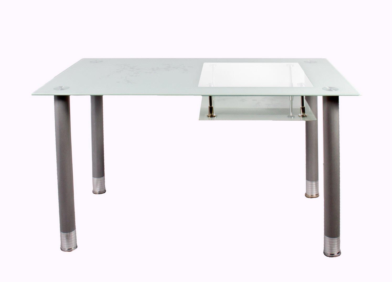 Стол обеденный со стеклом А32 голубой