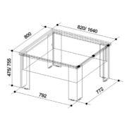 Стол-трансформер Секрет размер