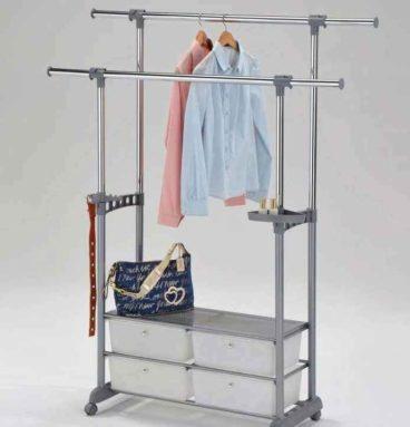 Вешалка для одежды с ящиками