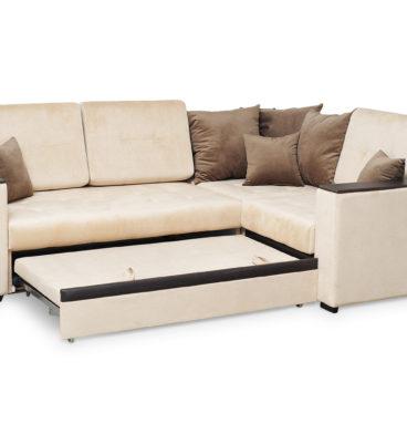 Аметист диван угловой с полукреслом.2