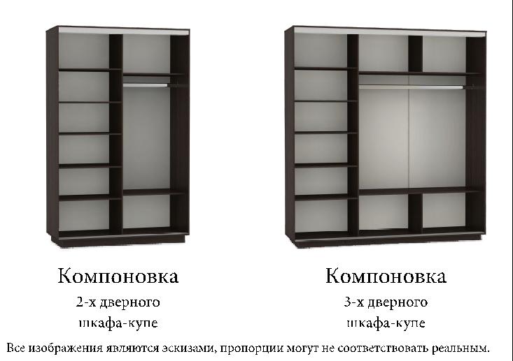 Компоновка 2х дверных и трех дверных