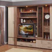 Мебель для гостиной Глория-5 ясень