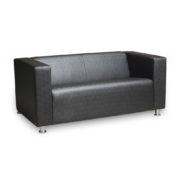 Офис 1 диван 2-х местный (черный)