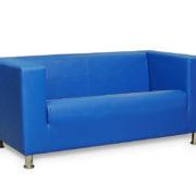 Офис 1 диван 2-х местный (синий)