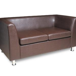 Офис 7 диван 2-х местный коричневый