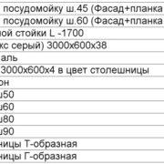 Прайс-лист комплектующие Нова с 20.09.2018г