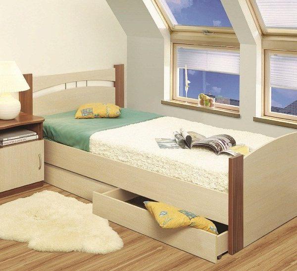 Кровать 900 с бескаркасным основанием (спальное место 900х2000)