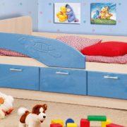 Кровать (черепаха) голубой