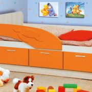 Кровать (черепаха) оранж