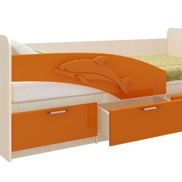 Кровать (дельфин) оранж