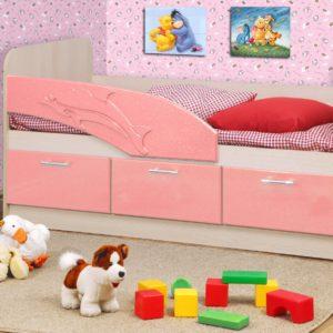 Кровать (дельфин) розовая