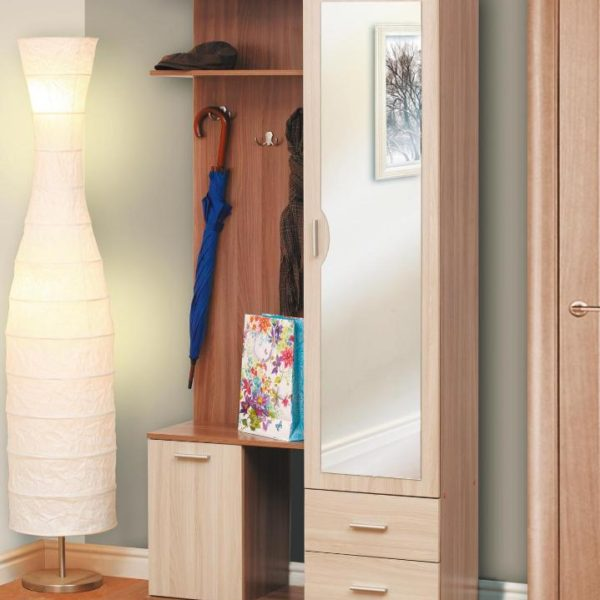 Шкаф комбинированный Кармен-1 ясень