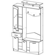 Виола-3 Шкаф комбинированный схема