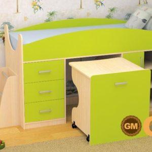 Кровать детская Гуфи лайм