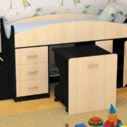Кровать детская Гуфи венге