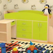 Кровать детская Рокси лайм