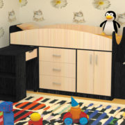 Кровать детская Рокси венге