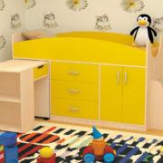 Кровать детская Рокси желтая