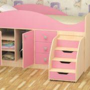Кровать детская Стрелка розовая