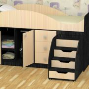 Кровать детская Стрелка венге