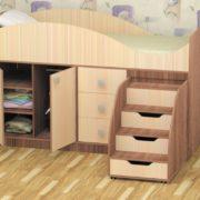 Кровать детская Стрелка ясень