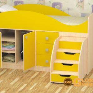 Кровать детская Стрелка желтая