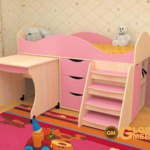Кровать детская Тошка розовая