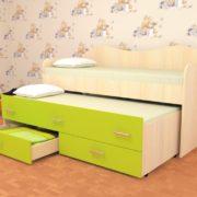 Кровать детская двухместная Нимфа лайм