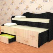 Кровать детская двухместная Нимфа венге