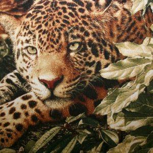Картина гобелен Леопард в джунглях
