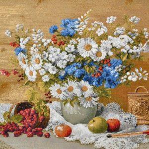 Картина гобелен «Подарок бабушке»