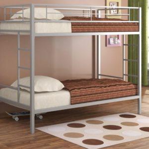 Металлическая двухъярусная кровать СЕВИЛЬЯ светлая