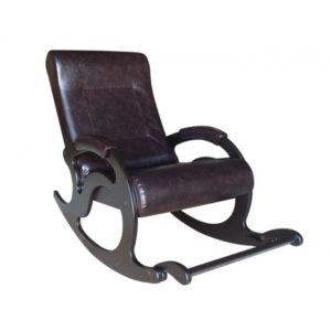 Кресло-качалка Тироль с подножкой (экокожа)