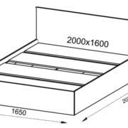 Кровать Ронда 1.6 размер