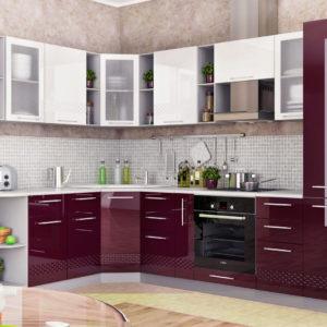 Кухня Капля Баклажан-Белый