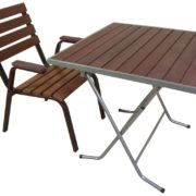 Кресло и стол для улицы Ривьера (темное)