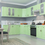 Кухня Монако угловая фисташка