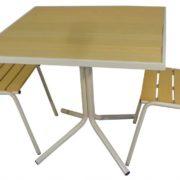 Стул и стол для улицы Ривьера (светлые)