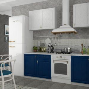 Кухня Гранд 1.5 Синий Белый