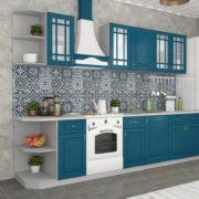 Кухня Гранд прямая Синий