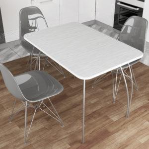 Обеденный стол МДФ (титан белый)