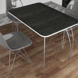 Обеденный стол МДФ (титан черный)