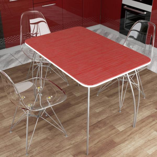 Обеденный стол МДФ (титан красный)