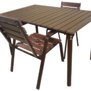 Стол для улицы Ривьера-2 со стульями