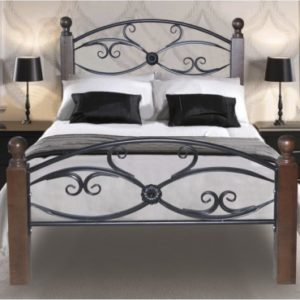 Кровать Мария металл и дерево Анапа