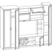Стенка Глория - 6 Н (схема)